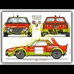 Abarth X1/9 Poster